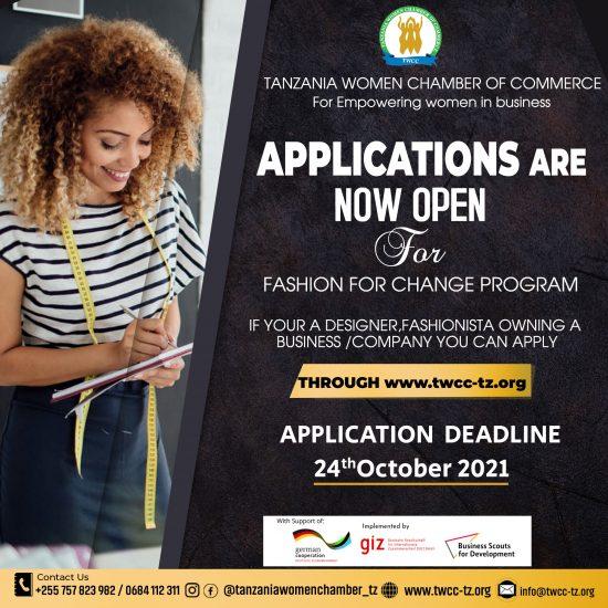 TWCC FASHION FOR CHANGE PROGRAM   2021